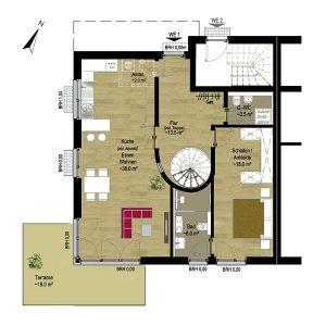 Grundriss Wohnung 1 EG | Gilcherweg 39 | IhL Immobilien hanseatische Lebensart GmbH