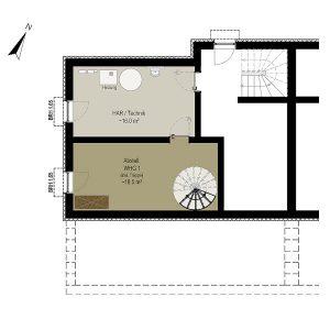 Wohnung 1_Grundriss KG | Gilcherweg 39 | IhL Immobilien hanseatische Lebensart GmbH
