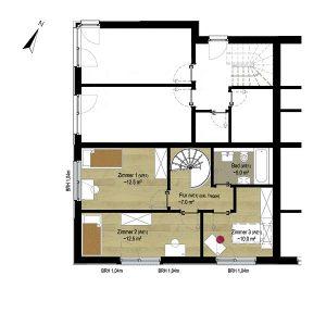 Wohnung 1_Grundriss OG | Gilcherweg 39 | IhL Immobilien hanseatische Lebensart GmbH