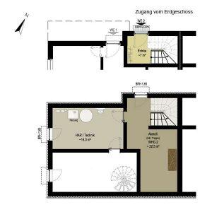 Wohnung 2 Penthouse | Grundriss KG + EG  | Gilcherweg 39 | IhL Immobilien hanseatische Lebensart GmbH