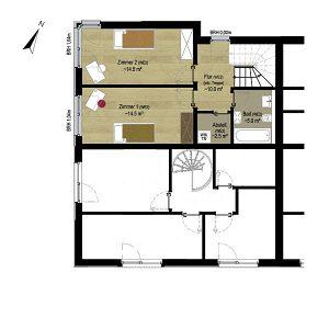 Wohnung 2 Penthouse | Grundriss OG  Gilcherweg 39 | IhL Immobilien hanseatische Lebensart GmbH