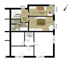 Wohnung 3 | Grundriss OG | Gilcherweg 39 | IhL Immobilien hansetische Lebensart GmbH
