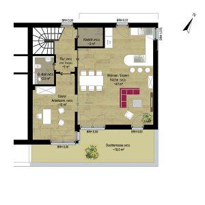 Wohnung 3 | Grundriss StFG | Gilcherweg 39 | IhL Immobilien hanseatische Lebensart GmbH