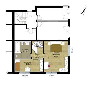 Wohnung 4 EG | Grundriss OG | Gilcherweg 39 | IhL Immobilien hanseatische Lebensart GmbH