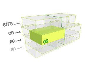 3D Flächenposittion_Wohnung 1 OG| Gilcherweg 39 | IhL Immobilien hanseatische Lebensart GmbH