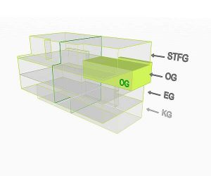 3D Flächenposition Wohnung 3 OG | Gilcherweg 39 | IhL Immobilien hansetische Lebensart GmbH