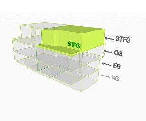 3D Flächenposition Wohnung 3 StfG| Gilcherweg 39 | IhL Immobilien hansetische Lebensart GmbH