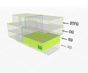 3D Flächenposition | Wohnung 4 EG  | Gilcherweg 39 | IhL Immobilien hanseatische Lebensart GmbH
