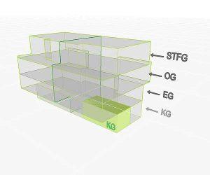 3D Flächenposition | Wohnung 4  KG | Gilcherweg 39 | IhL Immobilien hanseatische Lebensart GmbH