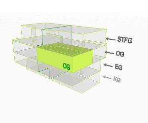 3D Flächenposition | Wohnung 4 OG  | Gilcherweg 39 | IhL Immobilien hanseatische Lebensart GmbH