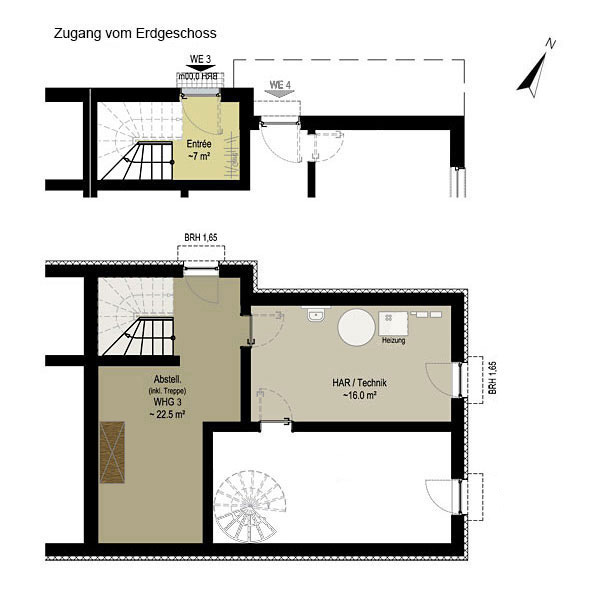 Wohnung 3 | Grundriss KG + EG | Gilcherweg 39 | IhL Immobilien hanseatische Lebensart GmbH